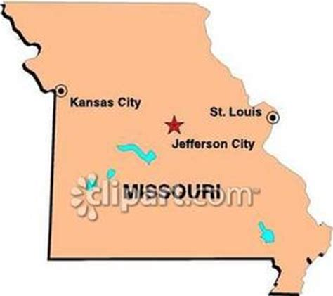 Cost Of Missouri Boating License by Map Of Missouri Showing State Capital Of Jefferson City