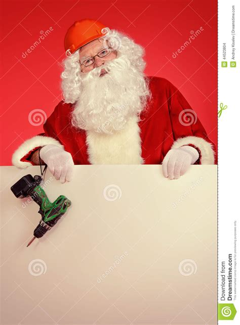 santa builder stock photo image