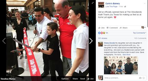 carlos bakery opening   woodlands tainted