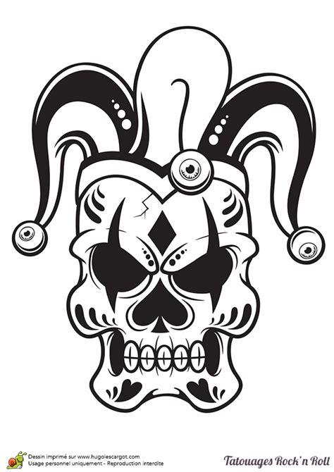 tatouage dessin coloriage tatouage rock bouffon