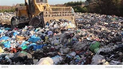 Landfill Bulldozer Garbage Dump Footage Buildings
