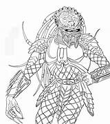 Predator Coloring Alien Pages Trippy Template Yin Fanart Deviantart Templates sketch template