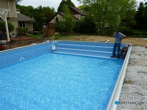 Swimming Pool Ladder Installation Above