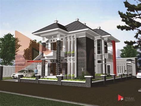 model rumah lantai  belakang rumah minimalis terbaru