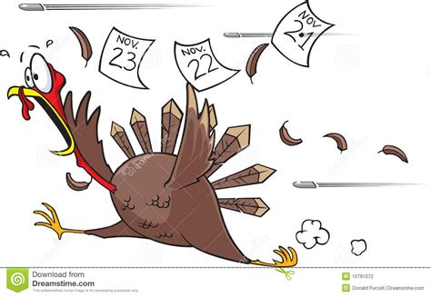 Running Scared Turkey Stock Illustration. Image Of