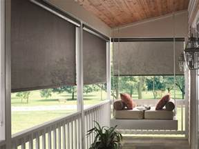 Roll Up Patio Sun Screens by Inspiring Porch And Sun Room Window Covering Ideas Home