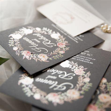 Unique UV Printed & Vellum Wedding Invitations with DIY