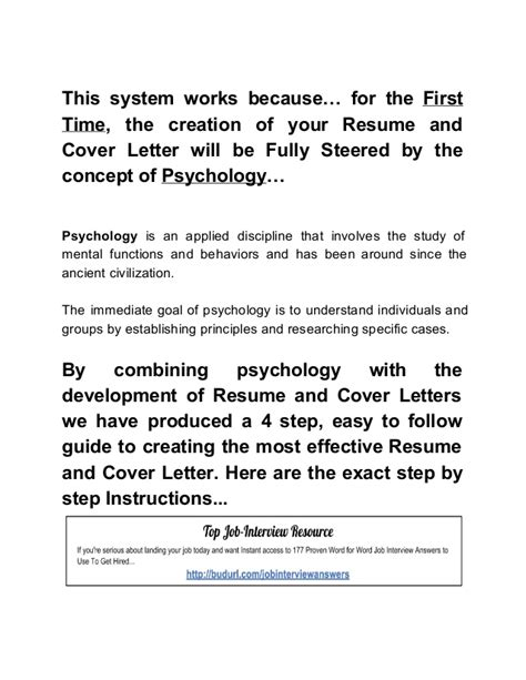 the effective resume and cover letter formula