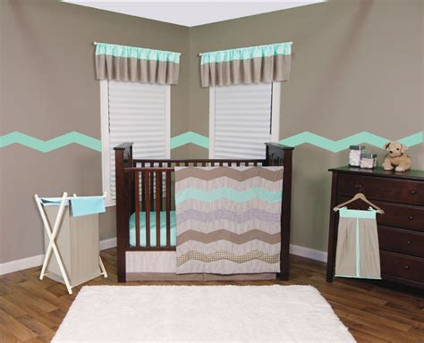 Mint Green Crib Bedding by Trend Lab Cocoa Mint 3 Crib Bedding Set Baby