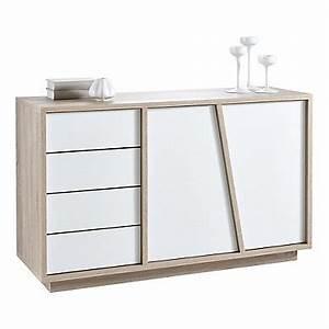 Buffet Salon Blanc : buffet et vitrine pas cher ~ Teatrodelosmanantiales.com Idées de Décoration