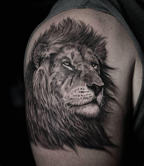 lion portrait  tattoo design ideas