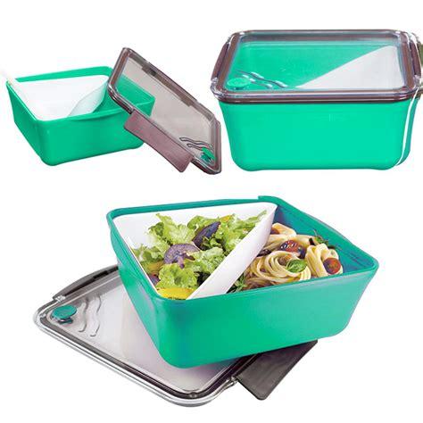 boite 224 repas lunch box 224 compartiment amovible fourchette vert ebay