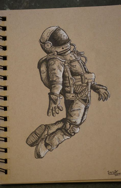space astronaut drawing drawing