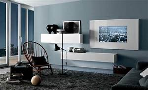 Modern Living Room Design Ideas by MisuraEmme cool blue ...