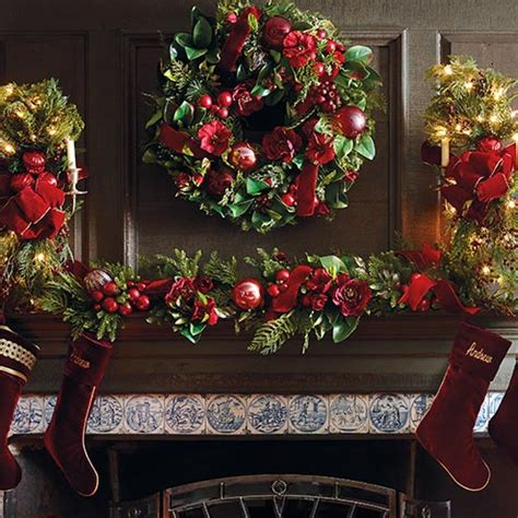 christmas mantle garland christmas decorations holiday decorations frontgate
