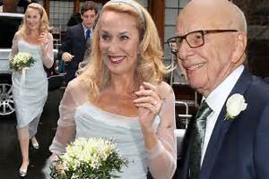 First pictures of Jerry Hall's wedding dress as Rupert ...