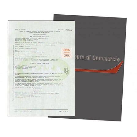 iscrizione di commercio costo certificato camerale agenzia la favorita
