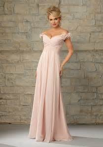 bridesmaid dress with sleeves luxe chiffon morilee bridesmaid dress with ruffled the shoulder cap sleeves style 20453