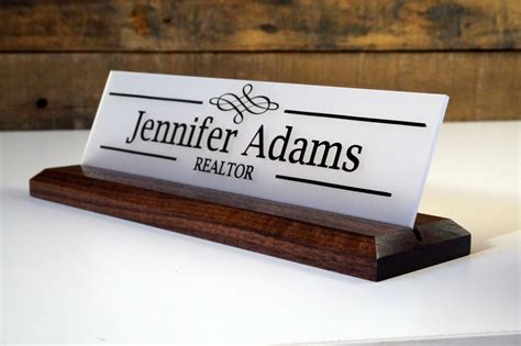 wooden name signs for desk kitchen dining