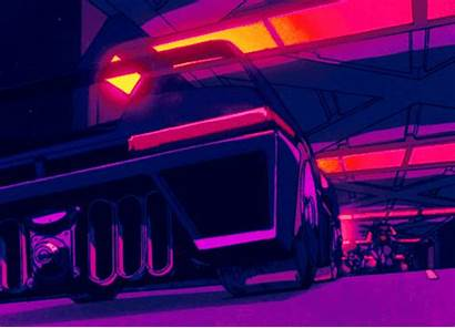 Aesthetic Retro Gifs Cyberpunk Race Anime Animated