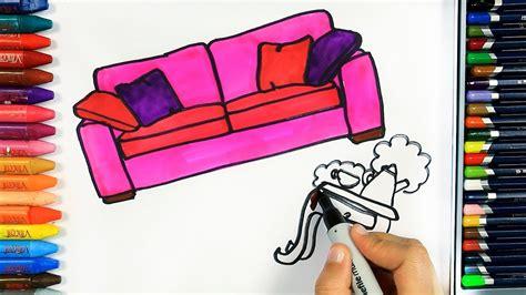 jak narysowac sofa kolorowanki dla dzieci