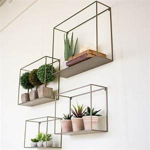 Metal Wall Shelf Group (Set-4) - NKE1034