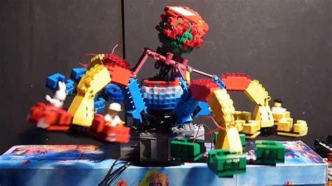 die lego krake  testlauf mit  micromotoren  den