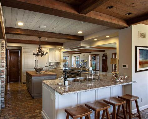 brick kitchen floor with white cabinets photo page hgtv