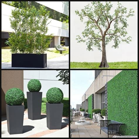 collection  large artificial outdoor trees