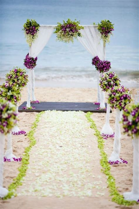 Magical Beach Wedding Aisle Decorations That Will Make You