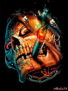 terrifying skulls animated gifs gifmania