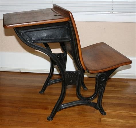 early 1900s antique american seating co school desk chair