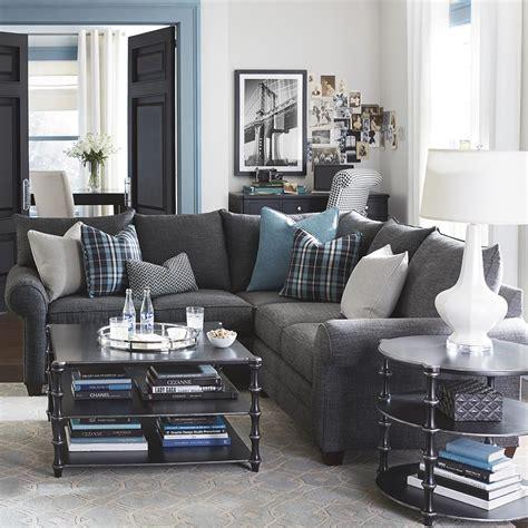 l sofa günstig alex l shaped sectional sofa living room bassett furniture