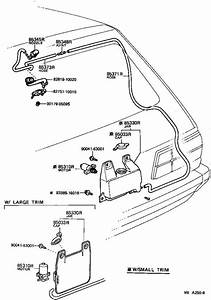 Toyota Starlet Cap Assembly  Rear Washer  Electrical