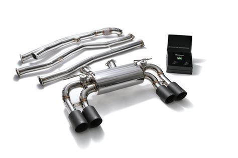 bmf87 qs38m armytrix stainless steel valvetronic catback exhaust system matte black tips