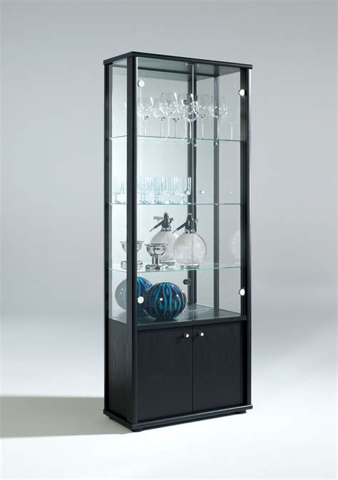 glass cabinet with lights living room neptune 1 or 2 door glass display cabinet with