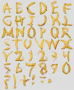 Banana peel alles banane banana pinterest behance for Banana letters