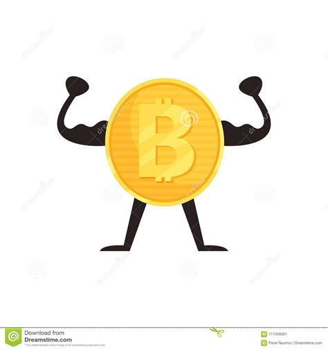 Show your pride for this technology with this cute and cool shirt. Humanized Bitcoin Character Showing Biceps Muscles. Shiny ...