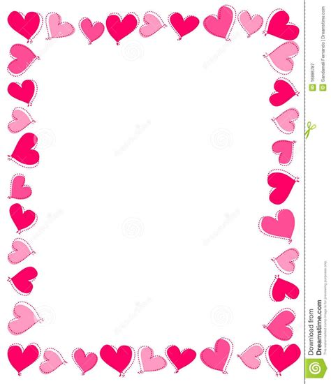 valentines day borders horizontal pink border clipart letters