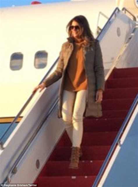 Melania Trump mocked for wearing heels in Texas flood zone | Daily Mail Online