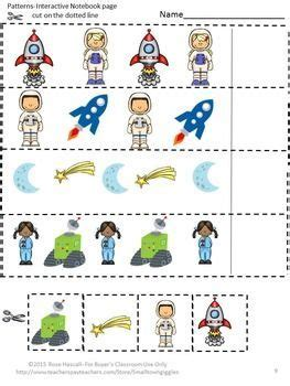 space science interactive notebook cut and paste math 925 | 995ad217b2f176926f3a8fe2d4ee9520 rocket preschool space worksheets for preschool