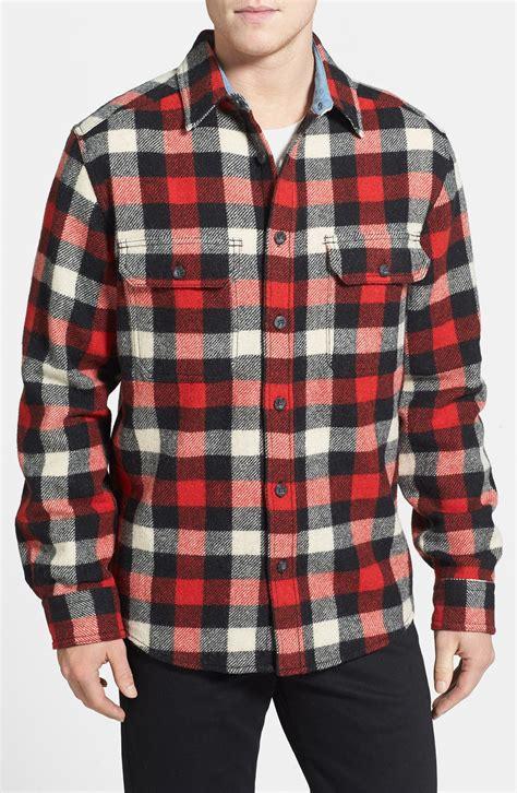 woolrich long sleeve oxbow bend flannel woven shirt
