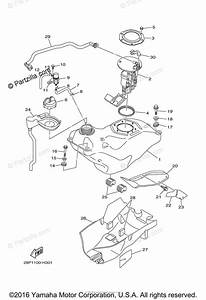 Yamaha Atv 2014 Oem Parts Diagram For Fuel Tank