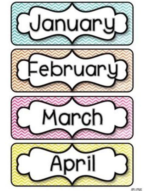 month labels ideas pinterest teaching
