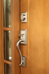 Front Door Handle Brushed Nickel