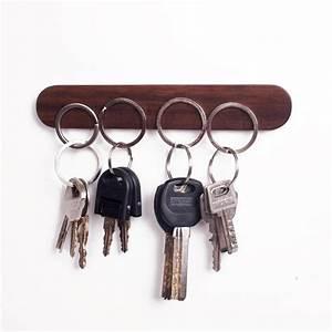 Wood Key Holder Wall Key Storage Organizer Strong Magnetic