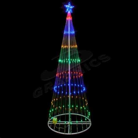 4 foot multi color led showmotion tree
