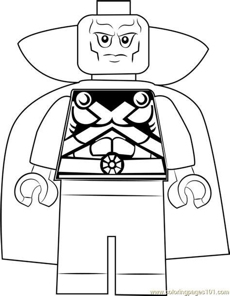 lego martian manhunter coloring page  lego coloring