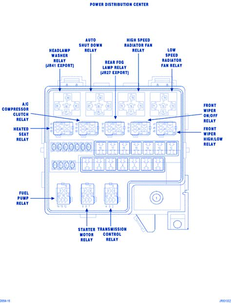 2003 Dodge Stratu Fuse Box Diagram by Dodge Stratus 2700cc 2008 Fuse Box Block Circuit Breaker