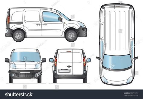 Transit Template Eps by Delivery Van Template Layout Presentation Vector Stock